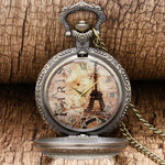 Quartz Open Face Magnifying Glass Pocket Watch  - Gustave - Pocket Watch Net