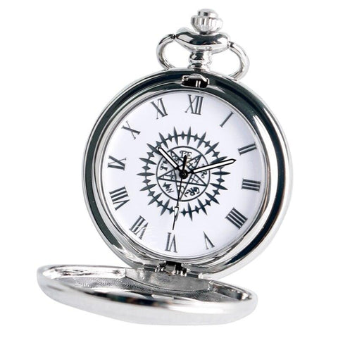 Silver Steampunk Quartz Full Hunter Pocket Watch - Pocket Watch Net