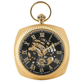 Square Mechanical Pocket Watch - B Squared - Pocket Watch Net