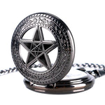 Steampunk Mechanical Full Hunter Pocket Watch - Black Star - Pocket Watch Net
