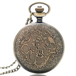 Steampunk Quartz Pocket Watch - Black Beard - Pocket Watch Net