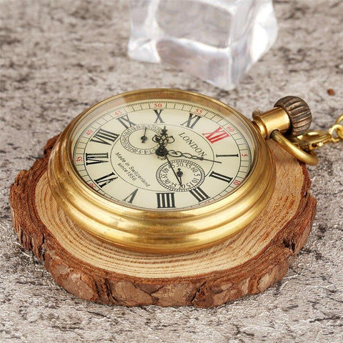 Vintage Automatic Open Face Pocket Watch - London - Pocket Watch Net