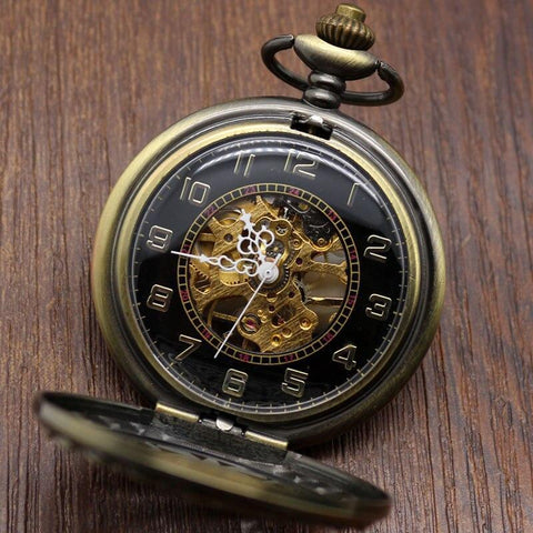 Vintage Bronze Mechanical Pocket Watch - Saladin - Pocket Watch Net