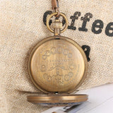 Vintage Mechanical Half Hunter Pocket Watch - Black Eagle - Pocket Watch Net