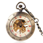 Vintage Open Face Mechanical Pocket Watch - Classy K - Pocket Watch Net