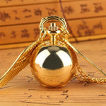 Women Quartz Pendant Watch  - Golden Snitch - Pocket Watch Net