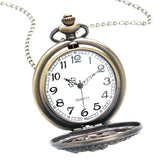 Women's Bronze Full Hunter Quartz Pocket Watch - Love Nest - Pocket Watch Net