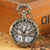 Women's Bronze Quartz Pocket Watch - Yggdrasil - Pocket Watch Net