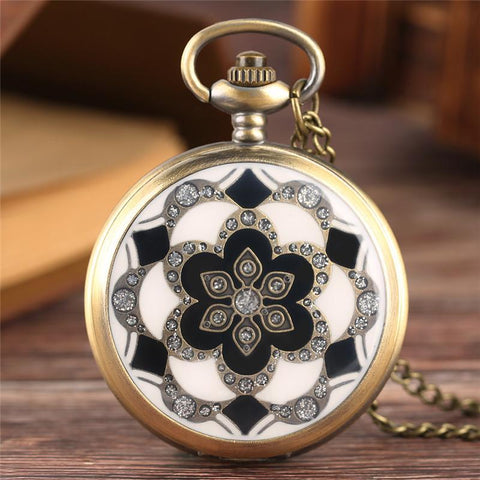 Women's Quartz Full Hunter Pocket Watch - Mandala - Pocket Watch Net
