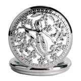 Women's Silver Quartz Pocket Watch - Siren - Pocket Watch Net