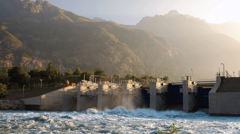 Hydro Plant on the Chacayes River in Chile