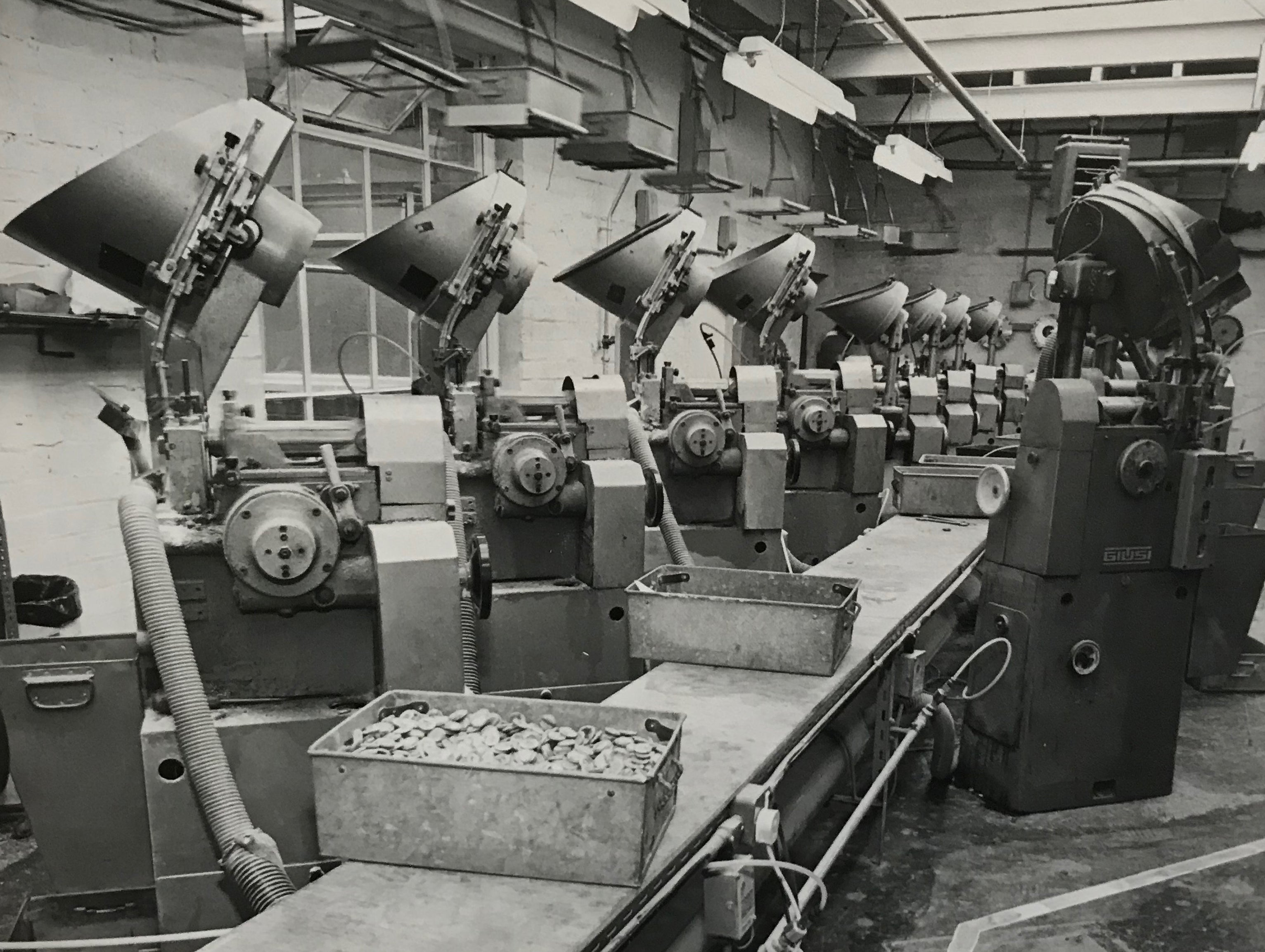 Photo of machinery from the factory floor of James Grove & Sons'.