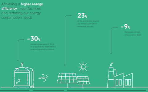 Riopele Reduced Energy Consumption and Higher Energy Efficiency Diagram