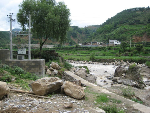 Hydro power from the Zagunao River supplies electricity to the Sichuan Province in China