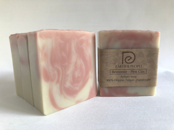 BENTONITE & PINK CLAY - DETOXIFYING BAR SOAP