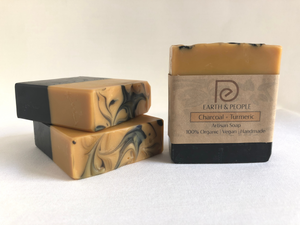 ACTIVATED CHARCOAL & TURMERIC - BAR SOAP