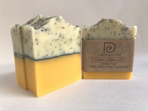 LEMON & POPPY SEED - EXFOLIATING BAR SOAP