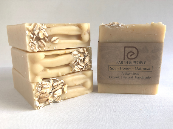 SOY MILK, HONEY & OATMEAL - BAR SOAP