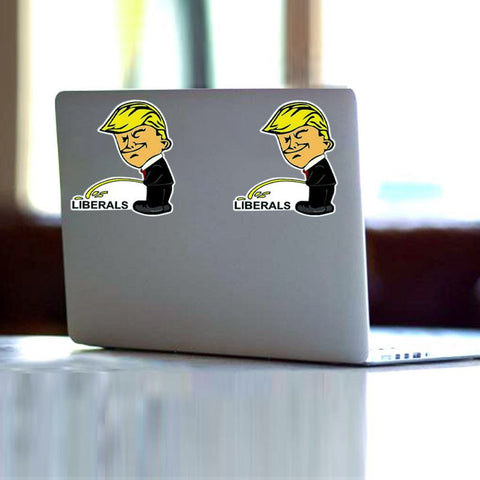 Image of Trump Peeing On Liberals Stickers