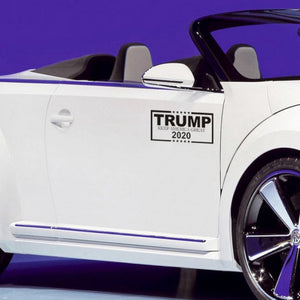 TRUMP 2020 Keep America Great Black & White Decal