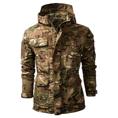 Image of Tactical Waterproof Windbreaker Camo Jacket