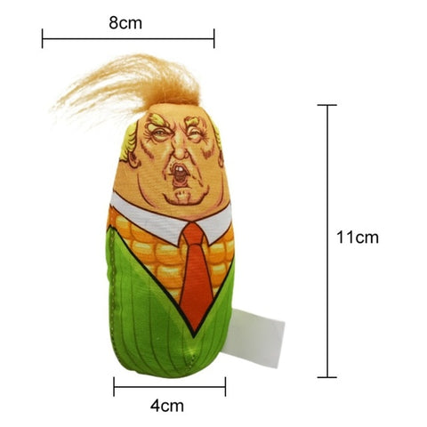 Trump Corn Head Cat Toy