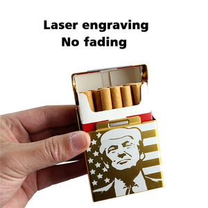 Laser Engraved Trump MAGA Magnetic Cigarette Box