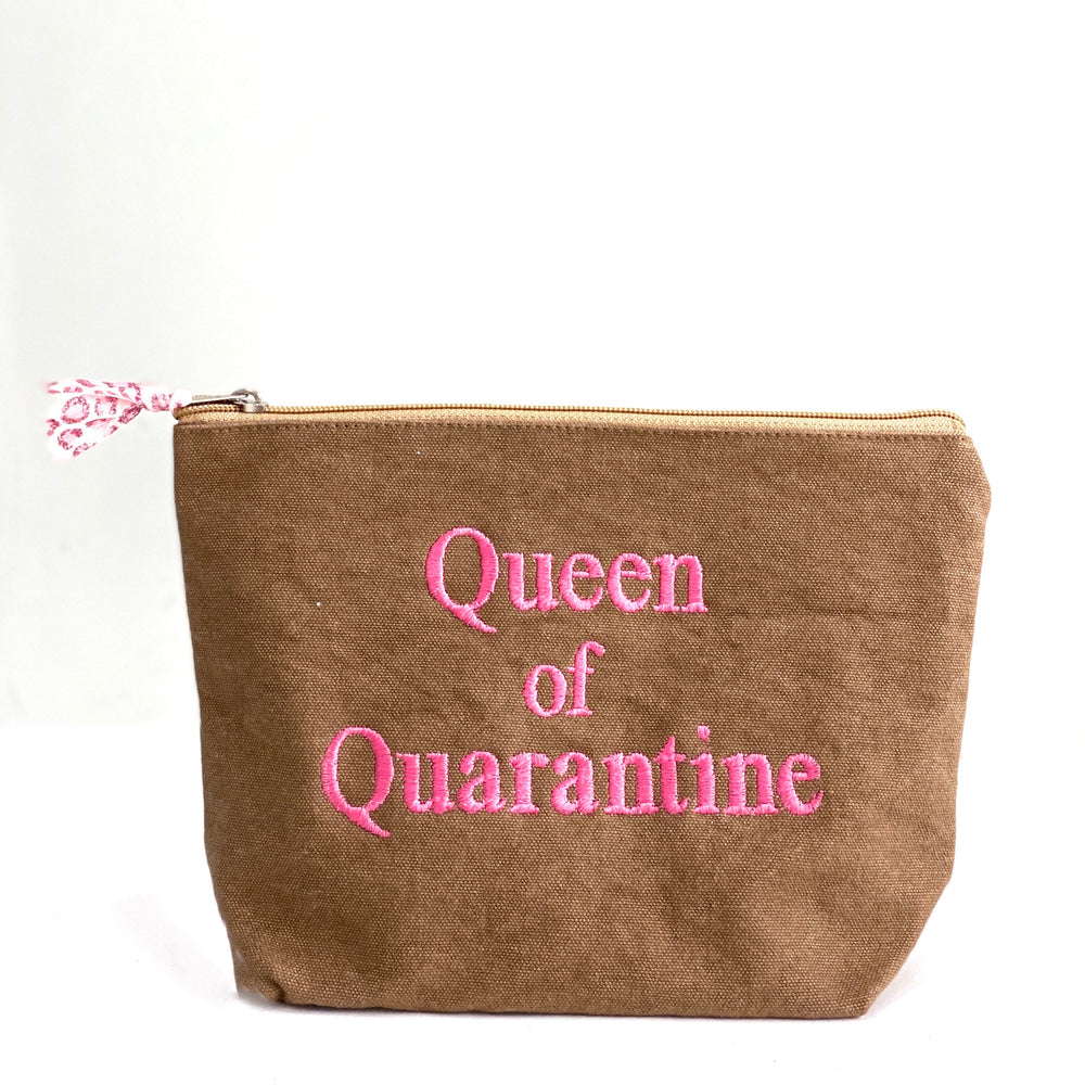 queen of quarantine pouch - be clear handbags