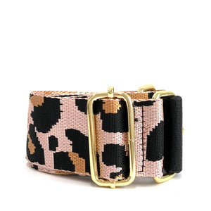 leopard strap - be clear handbags