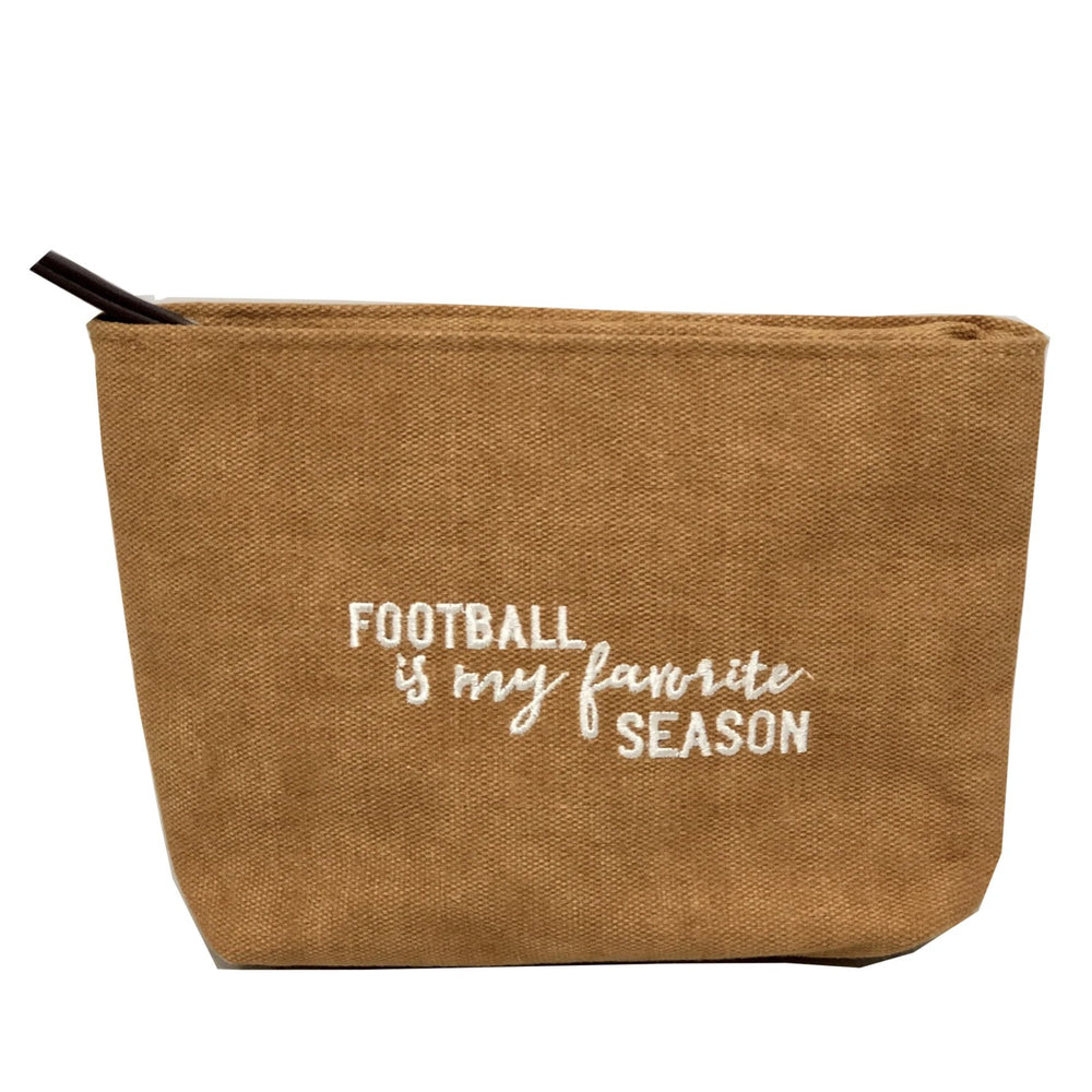 football is my favorite season pouch