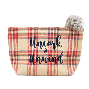 uncork & unwind pouch - be clear handbags