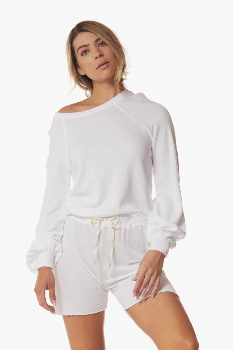 April Bell Sleeve Sweatshirt, White - With Love, MILA