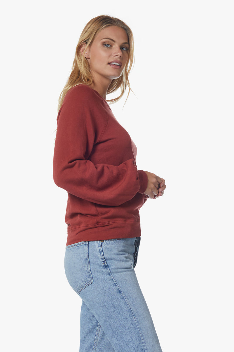 April Bell Sleeved Sweatshirt, Brick - With Love, MILA