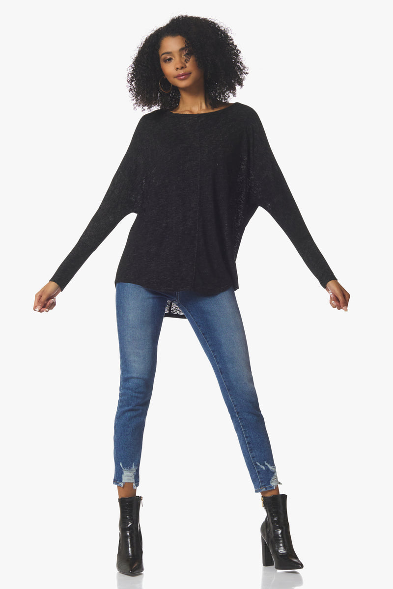 Beverly Long Sleeve, Black - With Love, MILA