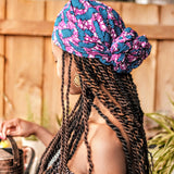 African Print Cotton Headwrap-Ferns
