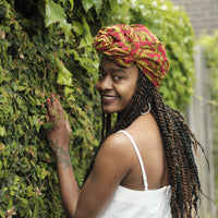 African Print Cotton Headwrap-The Star