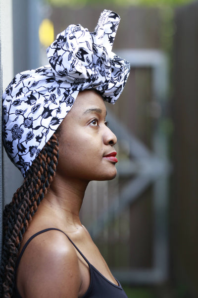 African Print Cotton Headwrap-Winter