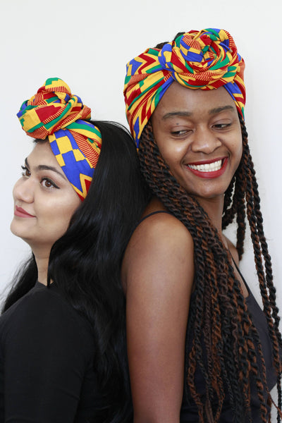 African Print Headwrap-Home