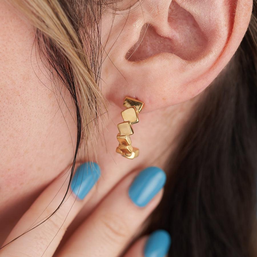 Stacked Squares Earrings
