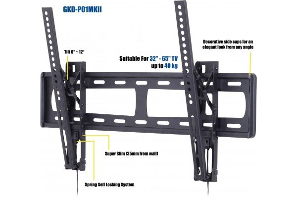 Low Profile Super Slim TV Wall Mount Universal fit all siz 37-65""