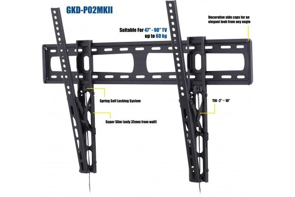 Low Profile TV Wall Mount Universal fit all siz 42-90""