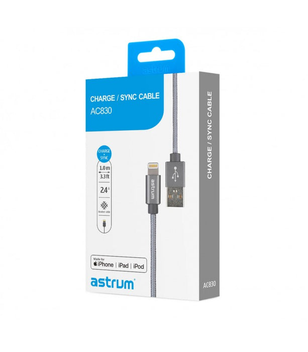 Astrum Lightning to USB cable 1M