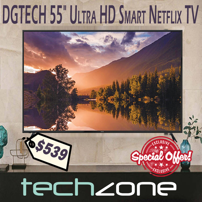 "DGTEC 55"" Ultra HD Smart TV with Netflix"