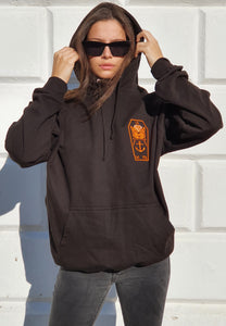 OHAN Hoodie Black Orange Womens