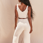 Load image into Gallery viewer, Fluffy Flared Pant Set in Cream