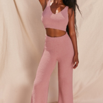 Load image into Gallery viewer, Fluffy Flared Pant Set in Blush