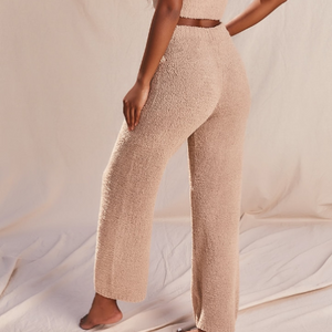 Fluffy Flared Pant Set in Sand