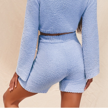 Snuggly Short Set in Baby Blue
