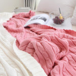 Load image into Gallery viewer, Classic Cotton Knitted Blanket