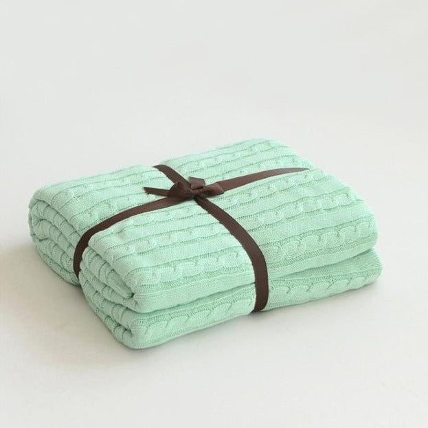 Classic Cotton Knitted Blanket